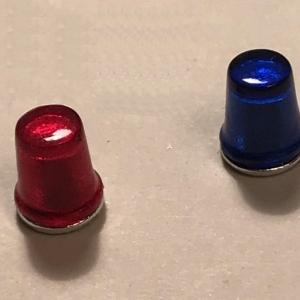 Комплект из 2 проблесковых маяков FER DDR синий и красный 1/24