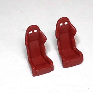 Сидения спортивные (красные) комплект из 2-х штук