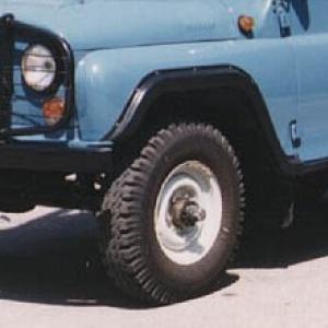 Диски УАЗ-452, УАЗ-469 R15 с резиной Я-245 с подшипниками
