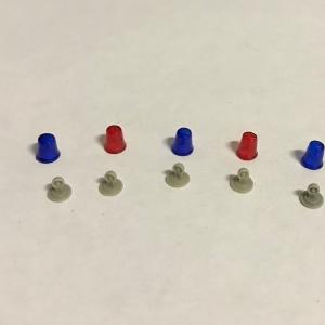 Набор микс из 5 проблесковых маячков FER DDR Ruhla со вставкой (NEW!!!)