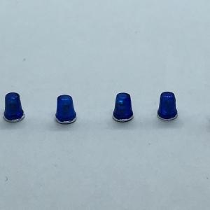 Набор из 5 синих проблесковых маячков FER DDR Ruhla со вставкой и хромом (NEW!!!)