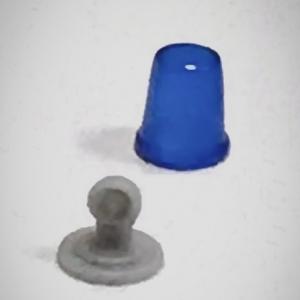 Набор из 5 синих проблесковых маячков FER DDR Ruhla со вставкой