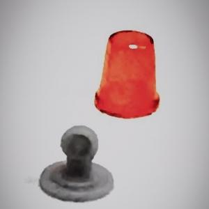 Набор из 5 оранжевых проблесковых маячков FER DDR Ruhla со вставкой
