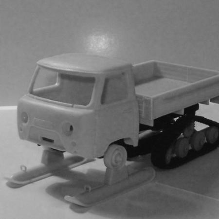Лыжи и гусеницы для УАЗ-451С вариант 2